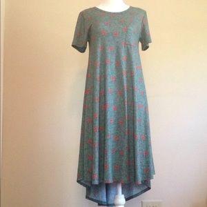 LULAROE Carly dress XXS with floral pattern